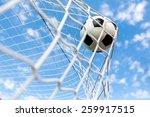 soccer  goal  soccer ball. | Shutterstock . vector #259917515