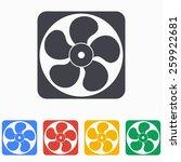 exhaust fan icon | Shutterstock .eps vector #259922681