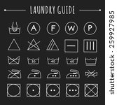 hand drawn laundry guide icons... | Shutterstock .eps vector #259927985