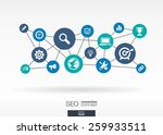 seo network. growth abstract... | Shutterstock .eps vector #259933511