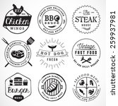 grill  barbecue  burger  hot... | Shutterstock .eps vector #259937981