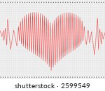 abstract heart cardiogram | Shutterstock . vector #2599549