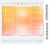 tri fold brochure mock up...   Shutterstock .eps vector #259965944