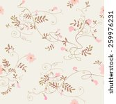 seamless floral background.... | Shutterstock .eps vector #259976231