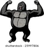 giant gorilla  | Shutterstock .eps vector #25997806