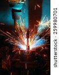 welding robot machine... | Shutterstock . vector #259980701