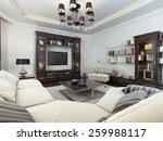 living room in art deco style ... | Shutterstock . vector #259988117