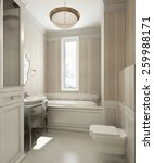 bathroom classic style  3d... | Shutterstock . vector #259988171