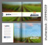 vector template booklet page... | Shutterstock .eps vector #259990559