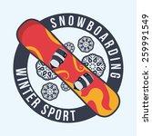 snowboarding design  vector... | Shutterstock .eps vector #259991549