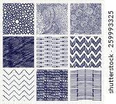 set of nine abstract pen...   Shutterstock . vector #259993325