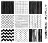 set of nine abstract hand drawn ... | Shutterstock . vector #259993379