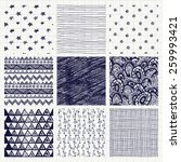 set of nine abstract pen... | Shutterstock . vector #259993421
