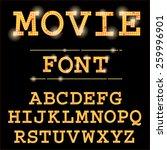 vector cinema font.  | Shutterstock .eps vector #259996901