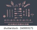 hand drawn vintage arrows ... | Shutterstock .eps vector #260003171