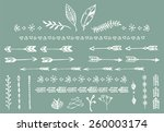 hand drawn vintage arrows ... | Shutterstock .eps vector #260003174