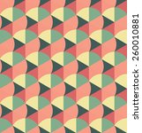 retro seamless pattern... | Shutterstock .eps vector #260010881