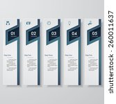 design clean number banners... | Shutterstock .eps vector #260011637