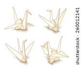 vector illustration of origami... | Shutterstock .eps vector #260012141