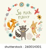 so much funny  cute background | Shutterstock .eps vector #260014301
