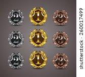 set of luxury golden vector... | Shutterstock .eps vector #260017499