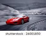 Beautiful Speed Red Sportscar...
