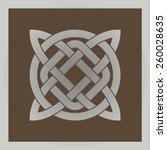 geometric celtic cross symbol   Shutterstock .eps vector #260028635