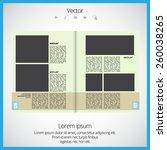 magazine layout vector  | Shutterstock .eps vector #260038265