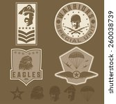 special unit military emblem... | Shutterstock .eps vector #260038739