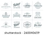 set of vector camping camp... | Shutterstock .eps vector #260040659