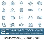 set of vector camping camp...   Shutterstock .eps vector #260040701