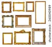 set of vintage gold picture... | Shutterstock . vector #260040989