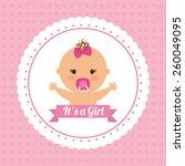 baby design over pink... | Shutterstock .eps vector #260049095