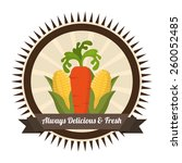 farm fresh design  vector... | Shutterstock .eps vector #260052485