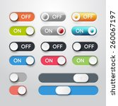 toggle switch icons. on and off ...