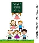 back to school design  vector... | Shutterstock .eps vector #260069807