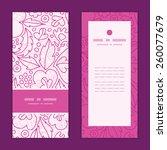 vector pink flowers lineart... | Shutterstock .eps vector #260077679