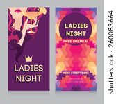 template for ladies night party ... | Shutterstock .eps vector #260083664