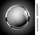 glass round button  gray  web ... | Shutterstock .eps vector #260086859