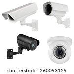 set of cctv security camera....