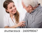 picture of smiling nurse... | Shutterstock . vector #260098067