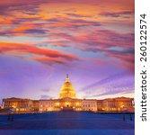 Stock photo capitol building washington dc sunset at us congress usa 260122574