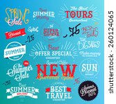 set of vector summer sales... | Shutterstock .eps vector #260124065