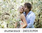 portrait of love couple...   Shutterstock . vector #260131904