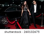 sexy couple in the car.... | Shutterstock . vector #260132675