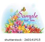 floral arrangement made of... | Shutterstock .eps vector #260141915