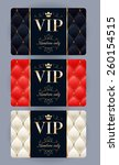 vip cards with abstract quilted ... | Shutterstock .eps vector #260154515
