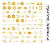 arrows set  different styles...   Shutterstock .eps vector #260154527