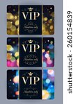 vip cards with abstract bokeh... | Shutterstock .eps vector #260154839
