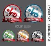 vector   silver antibacterial... | Shutterstock .eps vector #260156627